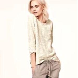 Lou & Grey Gold Coast Sweatshirt ivory metallic M